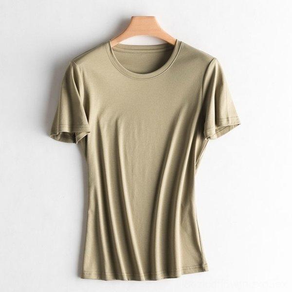 con cuello en V verde militar