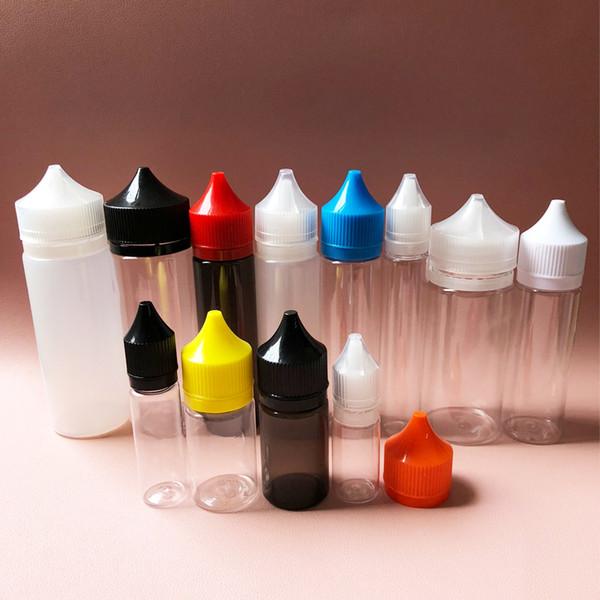 Chubby Gorilla Plastic Bottle Pen Shape PET Unicorn Bottles 30ml 60ml 100ml 120ml Con CRC Tamper Evident Caps para E Liquid Vape Juice