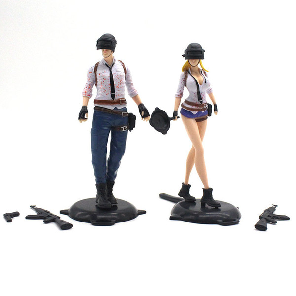 30PCS Hot 13CM Game Playerunknowns Battlegrounds PUBG Character Male and Female Action Figure Collection Toys for Gift