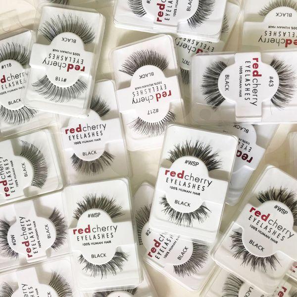 RED CHERRY Eyelashes Fake 3D Eye Lashes Natural Long False Eye Lashes Extension Makeup Eyelash Beauty Tools GGA2056