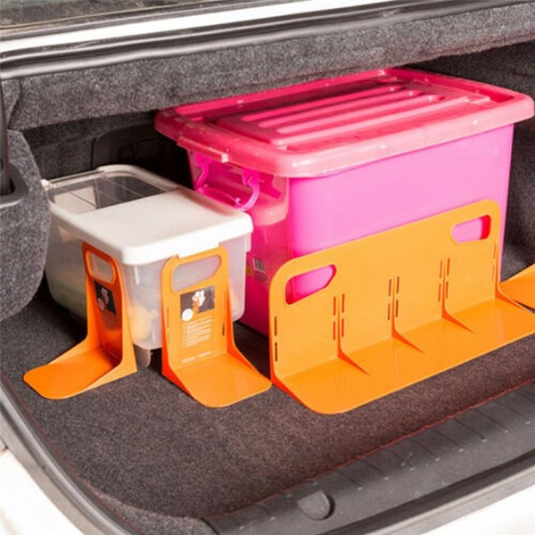 top popular Car Trunk Storage Baffle Multifunction Storage Box Fixed Holder Stand PP Handle Stuff Storage Protection Stayhold for Drink Food 2021