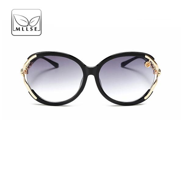 MLLSE Marke Neutral Sonnenbrillen für Frauen Wrap großen Rahmen Sonnenbrillen Stilvolle elegante Persönlichkeit UV400 Female Eye Wear
