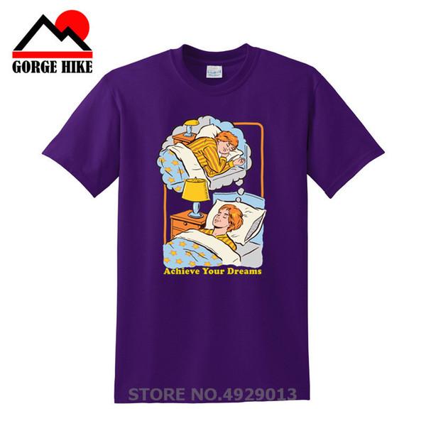 Demon Series Shirts Achieve Your Dreams T Shirt Men's Pre-Cotton Short Sleeve Sleep Tshirt Exercise Men's Upcoming Cool Designs