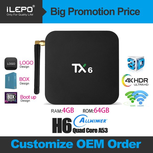4GB 64GB Smart TV Box TX6 Android 9.0 Allwinner H6 Quad Core Wifi HDR 4K Tanix TX6 Tunisie USA Canada Tunisia Poland IPTV Android TV box 9.0