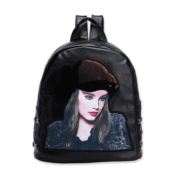 Урожай Мужчины Женщины Холст Рюкзаки школьные сумки для подростков девушка моды Ozuko Три лица T191029