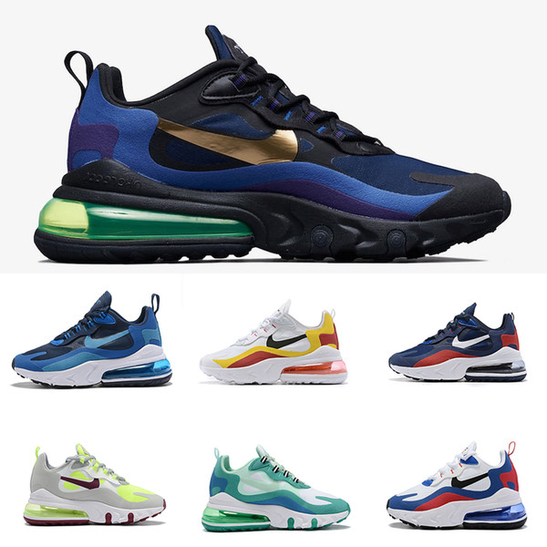 top popular Royal Blue 270 react mens running shoes Psyched By You Bleached Coral Grey Orange In My Feels Bauhaus men women sports sneakers 2020