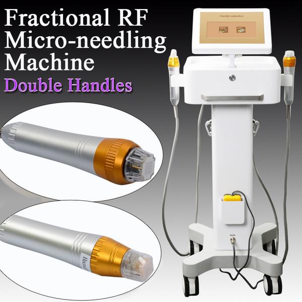Rf fraksiyonel Cilt Gençleştirme makine 2 IN 1 Microneedle Fraksiyonel RF Kırışıklık Kaldırma Makinesi yüz cilt bakım cihazları