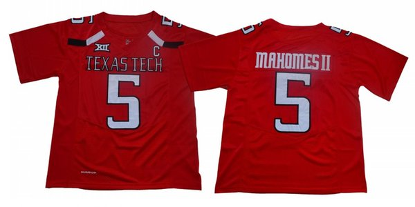 f84671f6261 5 Patrick Mahomes II Texas Tech Red Raiders NCAA College Football Jersey  Double Stitched Name and