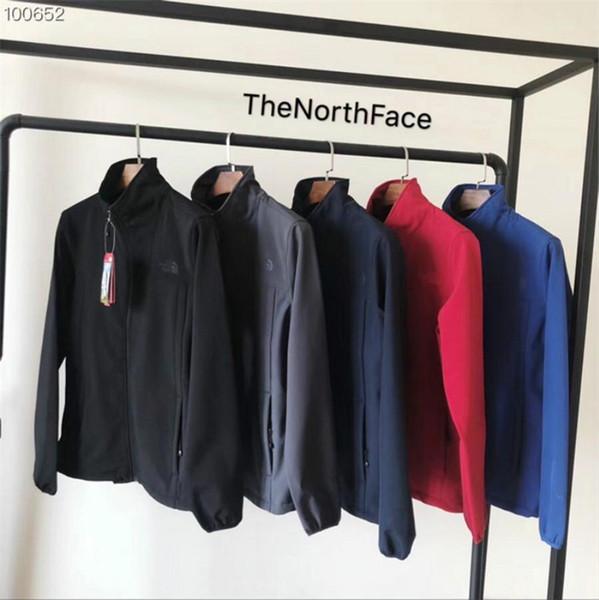 Designer NF Men Jacket the North Fleece Soft Shell Stand Collar Autumn Face Windbreaker Outdoor Windproof Coat Zip Jackets for men 2018
