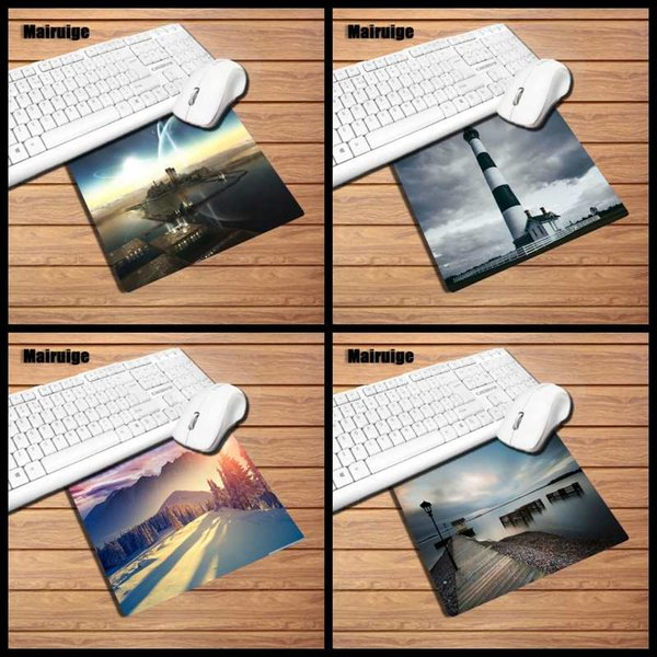 Mairuige produces rectangular small size 22x18/29x25cm rubber mouse pad home computer desktop speed pad + cloth material