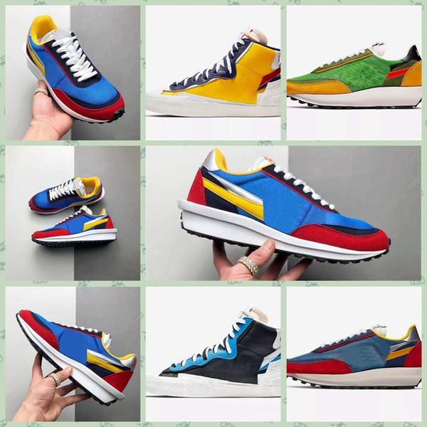 Nike LDV Waffle Nouveau Sacai x Combine Dunk Blazer mids Casual Chaussures Décontractées Femmes Baskets Hommes Toki Slip Txt Sports Skate Avant-garde Trailblazers Sneakers Si