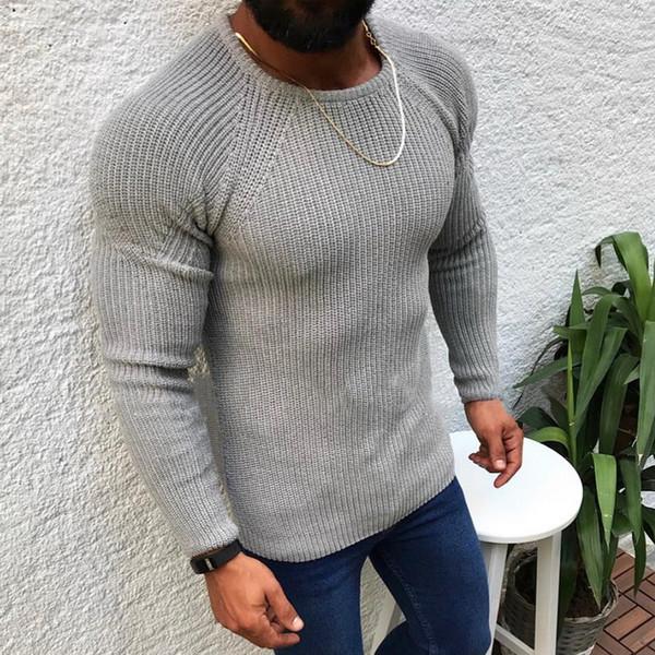 Вязаные свитера Мужчины Warm O шеи Вытащите Трикотаж 2019 осень зима вскользь Трико Перемычка Твердая пуловеры свитер Homme
