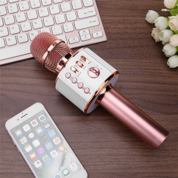 Portable Wireless Karaoke Microphone for Bluetooth With Mic Speaker Player Selfie Function for iPhone Android Phone