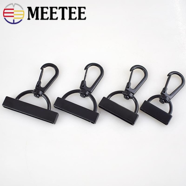 Meetee 20pcs 20/26/30/38mm Webbing Lobster Clip Hooks Carabiner Buckles Screw DIY Handmade Bag Clothing Decor Accessories BD381