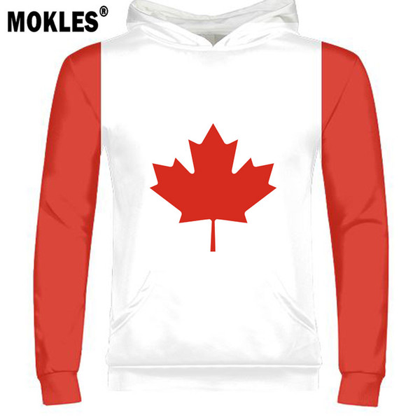 CANADA male youth diy free custom made name number country pullover nation flag ca black logo college print photo french clothes