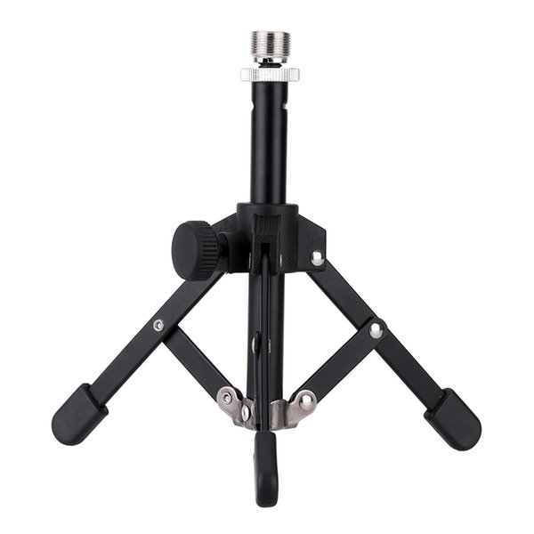 Andoer MS 12 Mini for Microphone Mic Foldable Desktop Tabletop Tripod Microphone Mic Stand Holder High Quality Andoer MS-12 Mini Tripod