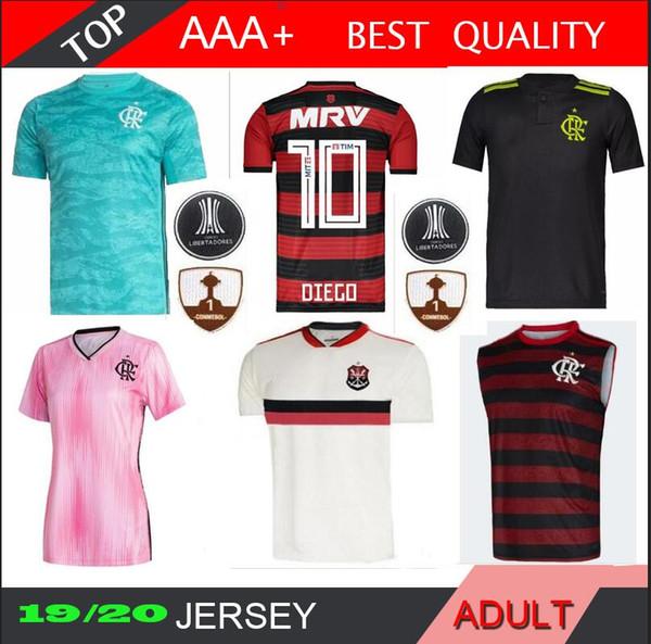 2019 2020 Flamengo Fútbol Jersey Gabriel B. de Arrascaeta mujeres DIEGO Camiseta de futbol 19 20 Vitinho lejos embroma la camiseta de fútbol femenino