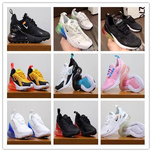 Nike Air MaX 270 Youth Running Shoes Kid Sneakers Air 27c Run Out Door Sports Shoe 270s Trainer Air Cushion Surface Size 28 35 Kids Sports Shoes Kids