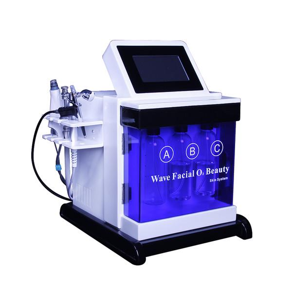 5in1 Hydro Dermabrasion Facial Machine Пилинг водой Алмазная микродермабразия Machine Уход за лицом Омоложение кожи светодиодная маска