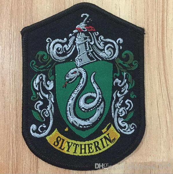 COSPLAY Harry Potter shcool parches cosidos en Gryffindor Slytherin Ravenclaw Hufflepuff parches para abrigo chaqueta c539