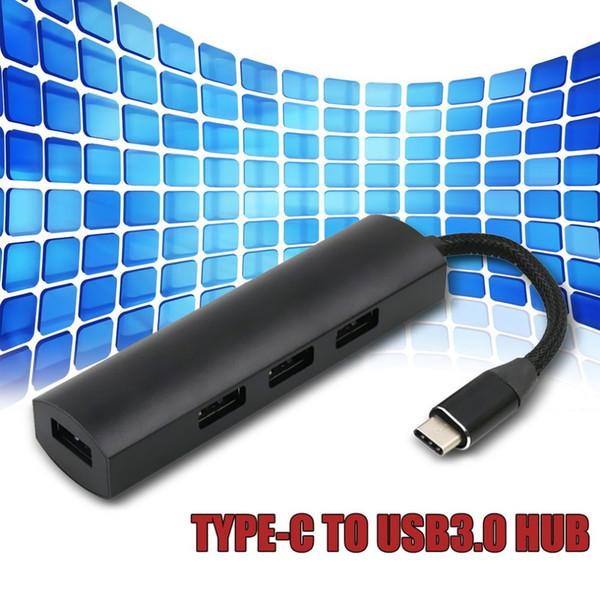 4 порта USB3.0 Тип-концентратор для USB3.0 кабель-адаптер высокая скорость передачи данных USB-концентратор зарядное устройство адаптер для Телефон планшетов