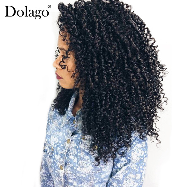 3B 3C Kinky Curly Lace Closure With Baby Hair 4x4 Free Part Brazilian Remy Human Hair Closures Dolago Hair Products