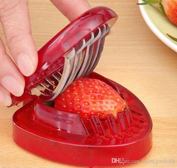 Cortador de fresa Herramientas de frutas y verduras Tallado Pastel Cortador decorativo Gadgets de cocina Accesorios Cortador de cuchillo de talla de fruta