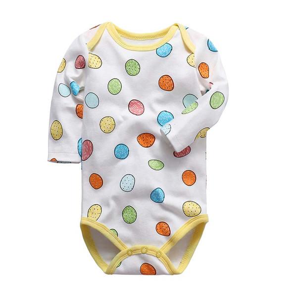 marca recém-nascido Unisex babador Bebê Manga Longa Coverall das meninas do menino roupa interior roupas de algodão Outono roupas Macacão infantil