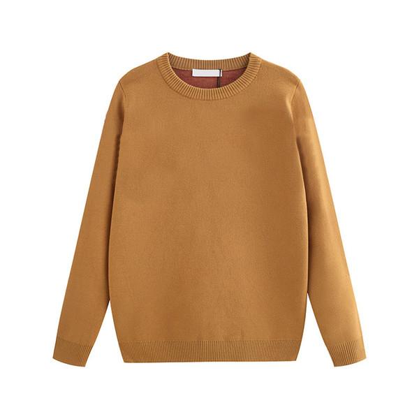 Designer Femmes Cardigan Pull 2019 Nouvelle Marque Automne et D'hiver De Luxe Nouvelle Dame Cardigan Pure Couleur Pull Taille De S À 2XL