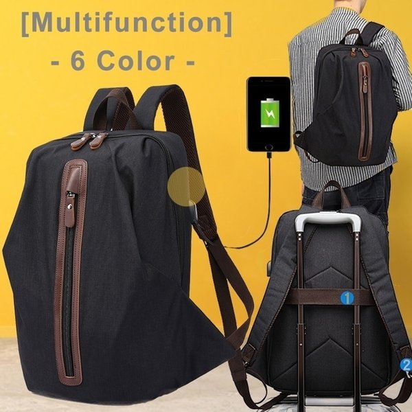 Personality Fashion Women/Man Computer NotebookOutdoor Travel Office Canvas Backpack climbing hiking picnic camping bachkpack