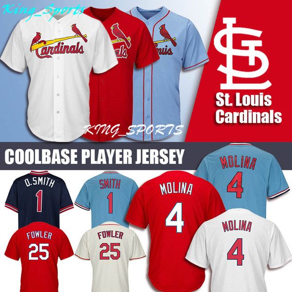 new style 5223e ec838 2019 St Louis Cardinals Majestic Coolbase Jersey 25 Dexter Fowler Jersey 1  Ozzie Smith Jersey 4 Yadier Molina Jerseys From Hotsellershop, $23.14 | ...