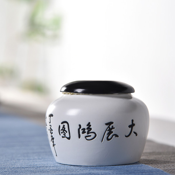 Chinese Style Small Jar Kitchen Canisters For Food Storage Tea Tank Pot Household Storage Bottle Porcelain Tea Cans Spices Caddy Kitchen Jar