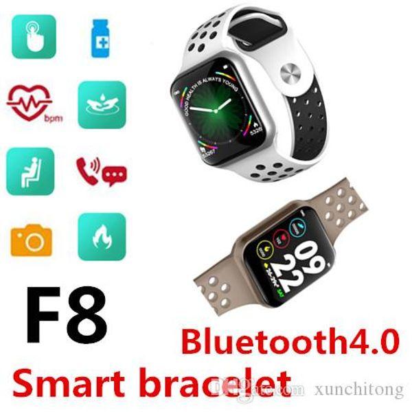Reloj de pulsera inteligente F8 Impermeable Bluetooth Frecuencia cardíaca Presión arterial SleepFitness Tracker Usable al aire libre Moda Deporte Banda TWS Muñeca