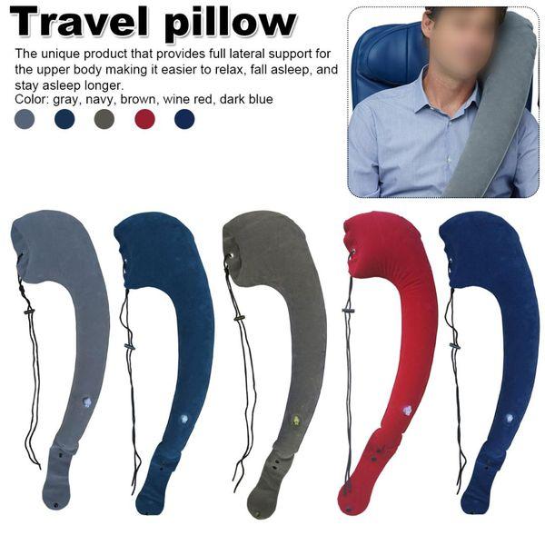 Sleeping Artifact 1pcs Adjustable Washable Body Pillow Travel Neck Pillow Long-distance Travel