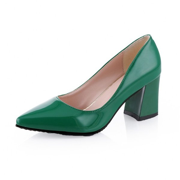 2019 6.5cm Block Heel Pointed Toe New Hot Comfortable Elegant Shoes Women High Heels Sexy Party Office Pumps Thick Heel Ladies Shoes