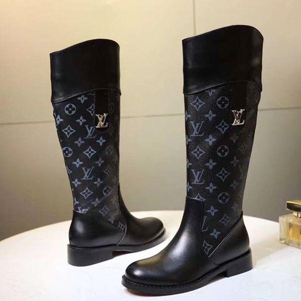 Women Boots Shoes Leather Plus Size Bottes Chaussures de femme High Top Womens Shoes Fashion Zipper W23 Knee Boots Casual Shoes for Women