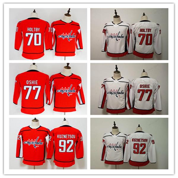 watch d963d 8e3ee 2019 Cheap New Washington Capitals Women Ice Hockey Jerseys 92 Evgeny  Kuznetsov 77 TJ Oshie 70 Braden Holtby Kids Jerseys Fast Mix From Hebexiao,  ...