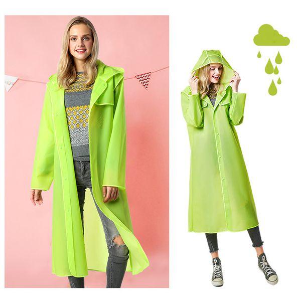 Fashion EVA Women Men Raincoat Thickened Waterproof Rain Coat Women Clear Transparent Tour Waterproof Thicken Rainwear Suit