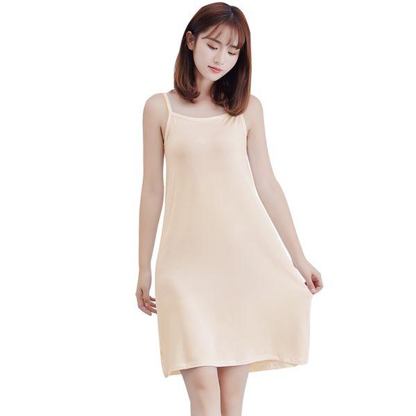 Fashion Women Modal Slip Dress Spaghetti Straps Sleeveless Soft Stretchy Casual Cami Dress Striped Summer 2019 Sundress