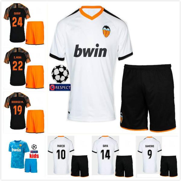 Детский комплект 2019 Валенсия PAREJO Футбольные майки 19 20 CF RODRIGO M. G.GUEDES GAMEIRO S.MINA C.SOLER Batshuayi Футбольная рубашка