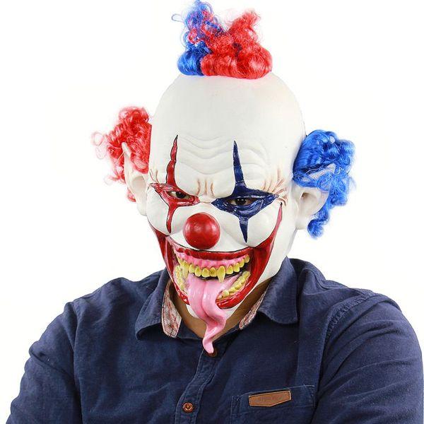 Creepy Mal effrayant Joker Clown Masque Horreur Halloween Costume Masque Fantôme Party Supplies Décoration de fête