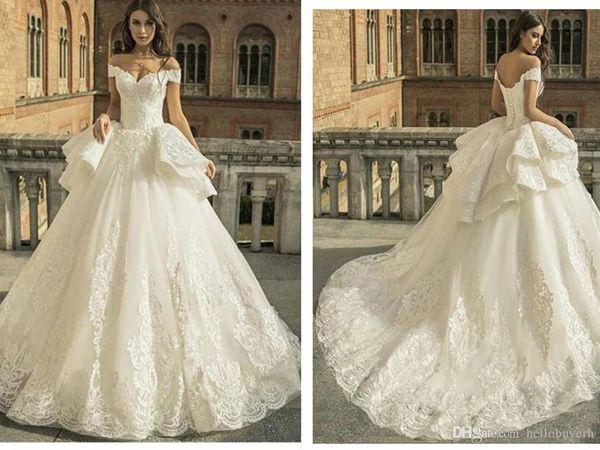 Ball Gown Lace Zuhair Murad Princess Wedding Dresses Sweetheart Drop Waist 2019 New Wedding Gowns Nigeria African Sweetheart