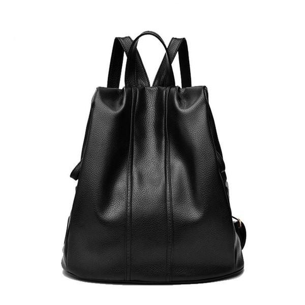 Nice- Woman Fashionable Mini Tablet Computer Package Minimalist Inner Bag Vogue Leisurely Noble Black Waterproof School Backpack Women