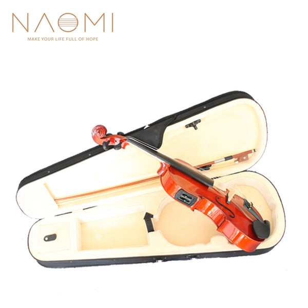 best selling NAOMI Violin Electric Acoustic Violin 4 4 Electric Acoustic Violin Preamp+Case W Bow Case New