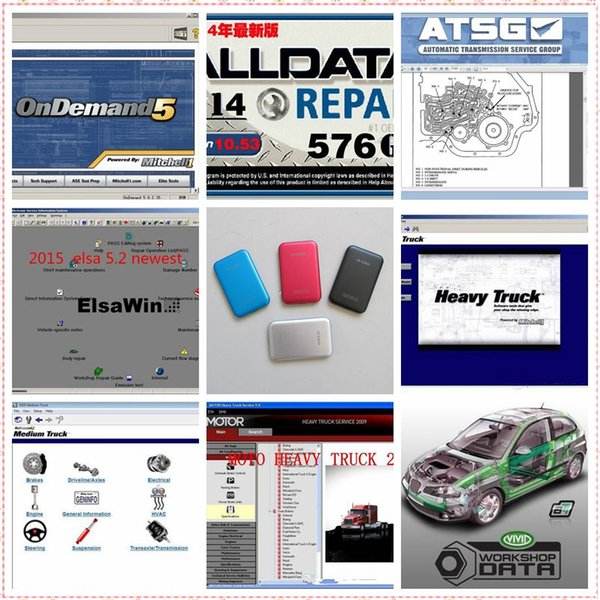 Newest alldata and mitchell 5.8 2015 Auto repair software 47 in 1TB HDD alldata software v10.53 Vivid workshop data+ElsaWin 5.2