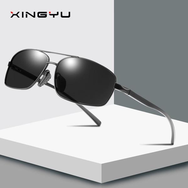 Gafas de sol polarizadas para hombres gafas de sol de aluminio y magnesio gafas cuadradas espejo conductor azul espejo de conducción al por mayor 2458