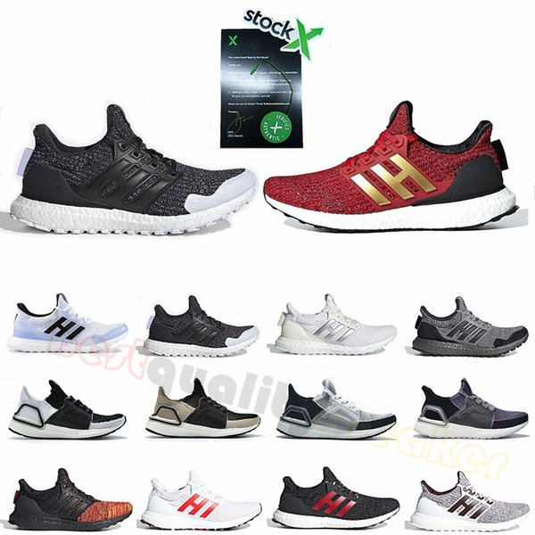 best selling 2019 Ultra Boost 4.0 5.0 Running Shoes Mens Womens Primeknit Trainers 4s 5s Oreo Black White Designer Sports Sneakers With Stock X Tag 36-46