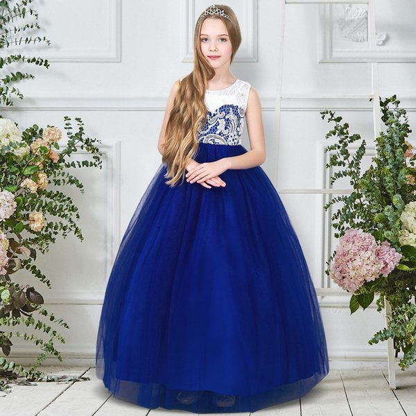 2019 Girl Party Dress Christmas Dress For Girls Summer Children Fancy Princess Prom Gowns Wedding Clothes Girls 5-14Y XG167