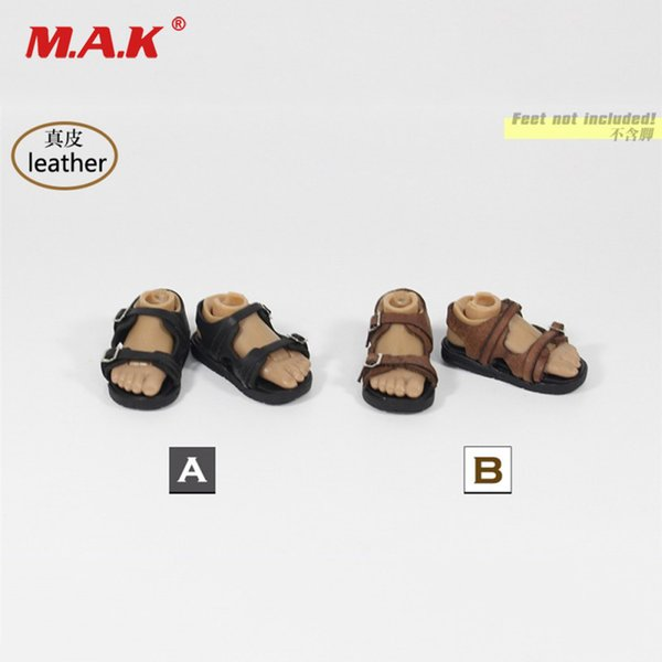 ZY1015 1/6 Scale Male Shoes Leather Sandals 2 Colors Model for 12 inches Man Action Figure Accessory