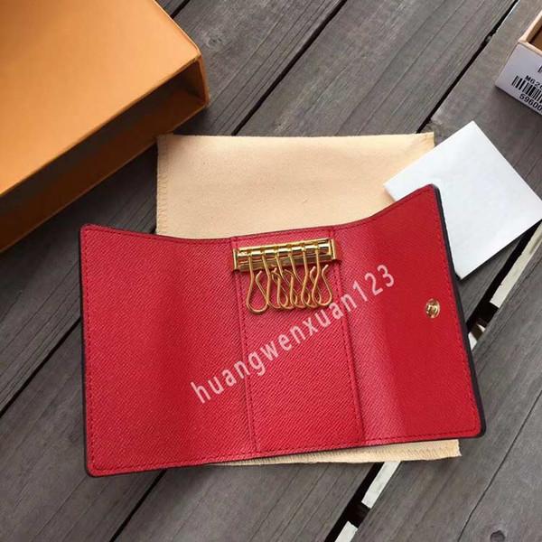 Haute qualité M62630 trousseau de luxe classique concepteur de porte-clés 6 pochette clé marque célèbre court portefeuille clé pour les hommes et les femmes sac